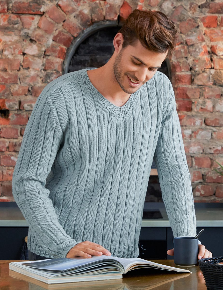 LANA GROSSA HERRENPULLOVER COOL WOOL BIG | Merino Edition No. 1 - Modell 5
